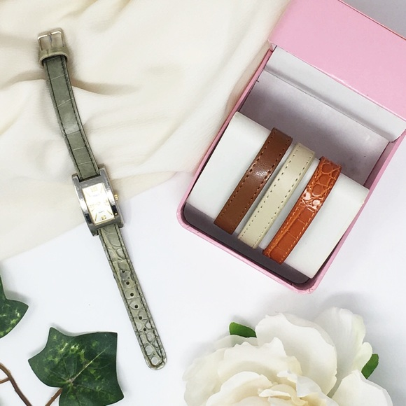 Details Accessories - Vintage watch set interchangeable bands silver